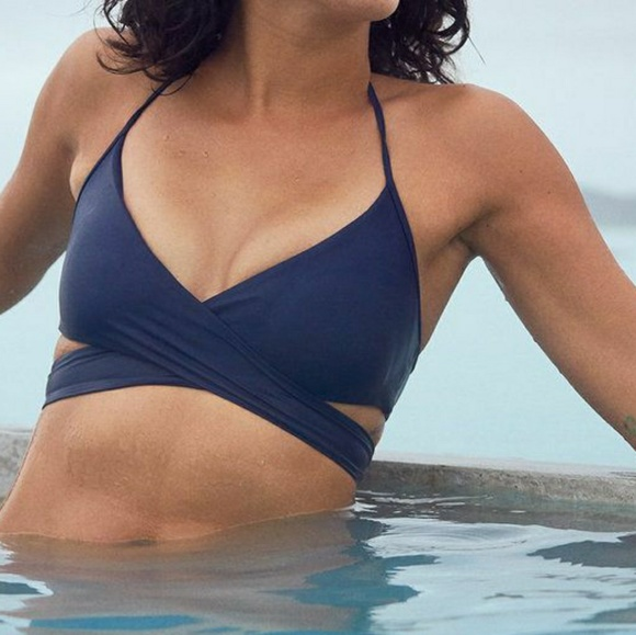 42dc3943ec aerie Swim | Nwt Wrap Scoop Bikini Top | Poshmark